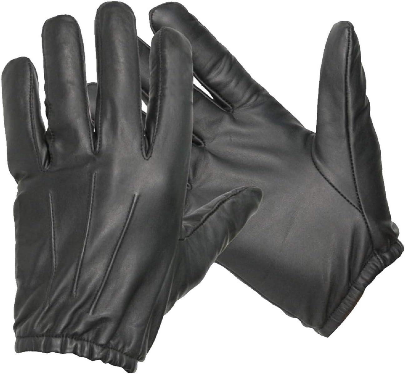 Guantes de seguridad Swift Wears de cuero y Kevlar negro resistente al fuego y a prueba de cortes, negro