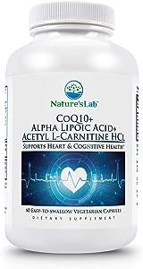 Nature's Lab CoQ10 + Alpha Lipoic Acid + Acetyl L-Carnitine HCI 120 Capsules
