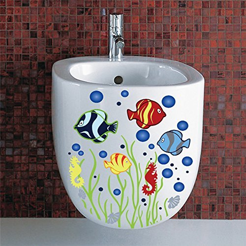 Copter shop Underwater bubble bath, bathroom toilet, waterproof sticker, home decoration, refrigerator, swimming pool, D Ecals