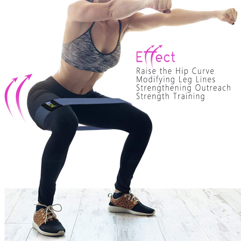 Asgym Booty Resistance Bands for Legs and Butt Non-Slip Non-Roll Thick Elast...