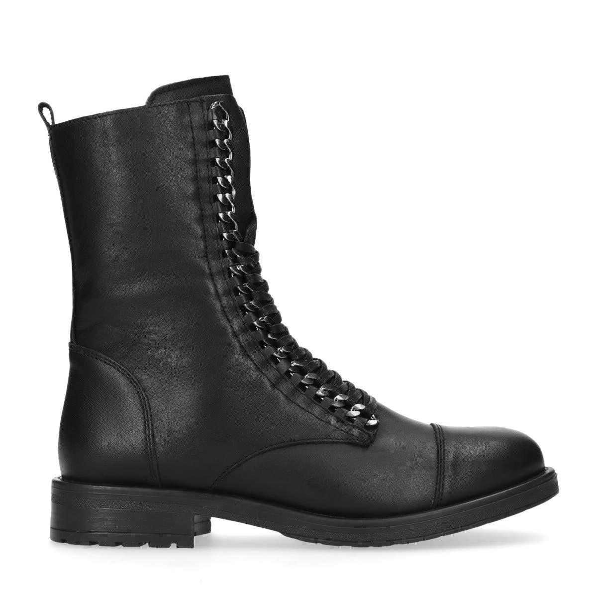 Sacha Schuhe   Damen Stiefeletten   Leder   Farbe  Schwarz
