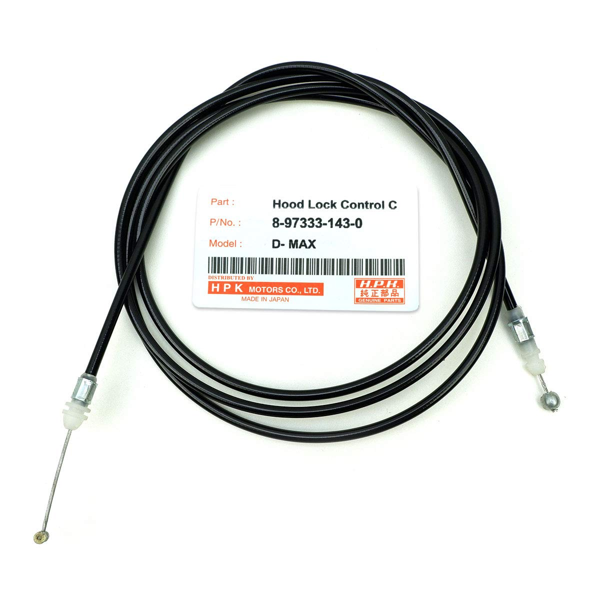 Nonstops Hood Bonnet Lock Release Control Cable Black Fits Isuzu D Max Pickup 2003 2011