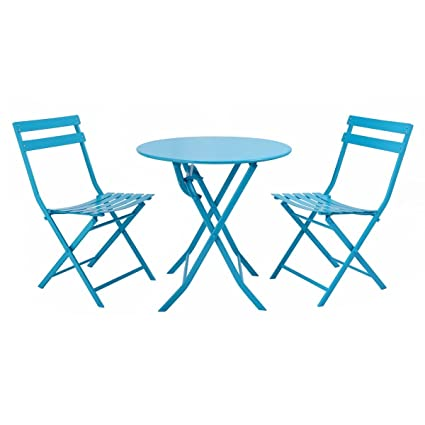 Amazon giantex 3 pc folding bistro style patio table and chair giantex 3 pc folding bistro style patio table and chair set outdoor patio garden pool watchthetrailerfo
