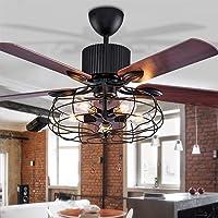 LED plafondventilator met verlichting hanglamp woonkamer slaapkamer plafondlamp afstandsbediening loft ventilator…