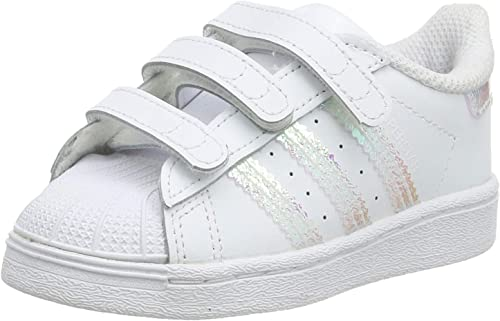 adidas Superstar CF I, Basket Mixte Enfant: