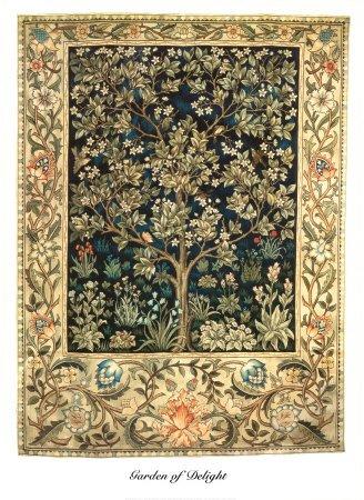 (Garden of Delight Art Print by William Morris 26 x 36in)