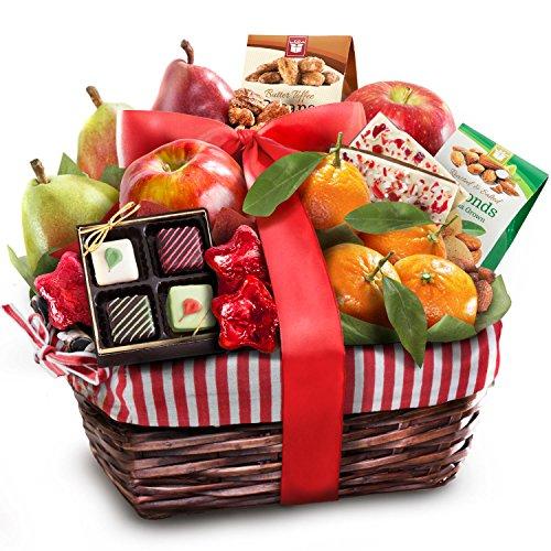 Golden State Fruit Rustic Treasures Holiday Christmas Gift Basket (Fruit Basket Gift)