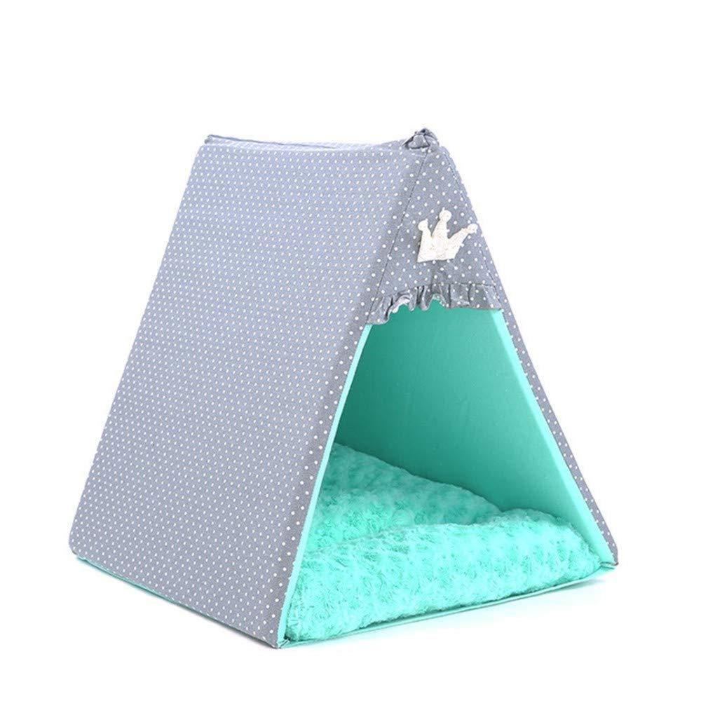 Wuwenw Tenda per Animali Domestici Nido Rimovibile E Lavabile Piccola Cuccia Quattro Stagioni Pet Forniture Universali, L
