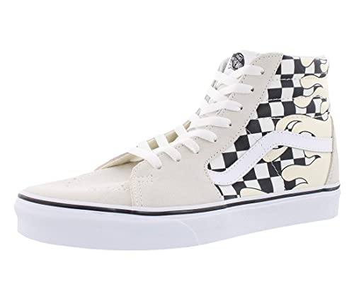 34194f2441fe31 Vans - Sneakers - SK8-Hi Checker Flame Classic - White Black (7.5 UK)   Amazon.co.uk  Shoes   Bags