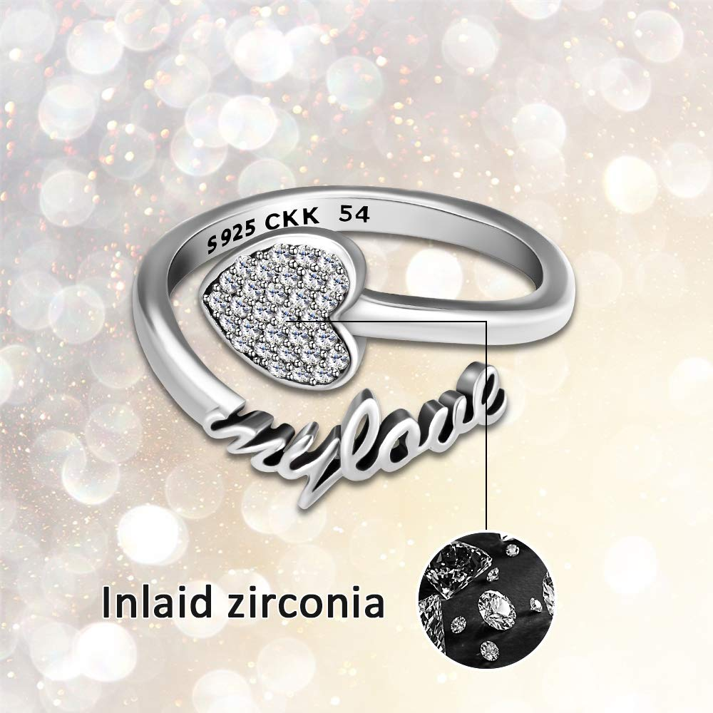 CKK 925 Sterling Silver Alluring Brilliant Twisted Ring Fit Minimalist Jewelry Cubic Zirconia