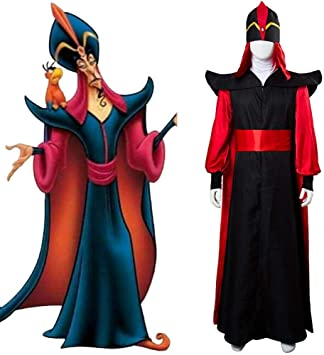 GJBXP - Conjunto completo de disfraz de Aladdin Jafar de adulto ...