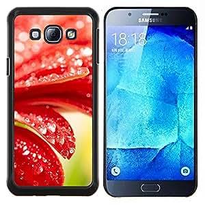 YiPhone /// Prima de resorte delgada de la cubierta del caso de Shell Armor - Planta Naturaleza Forrest Flor 98 - Samsung Galaxy A8 A8000