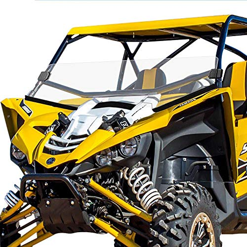 (Yamaha Half Front Windshield - Scratch Resistant Windscreen with Clamp for UTV Yamaha YXZ 2016-2018)