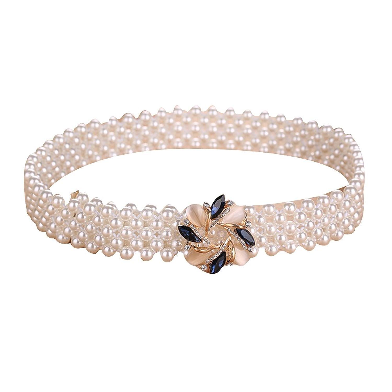 Sitong women's fashion diamond pearl inlay belt