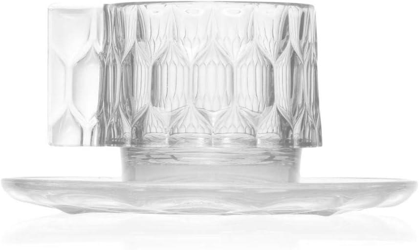 Thermoplastisches Technopolymer 12 x 10 cm Kartell Jellies Family Tasse und Unterteller Klar