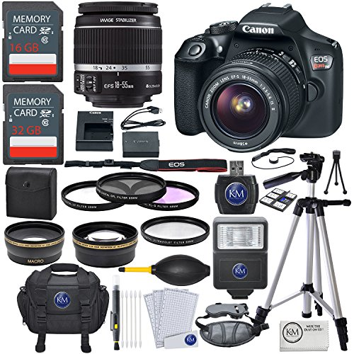 Canon EOS Rebel T6 DSLR Camera w/ EF-S 18-55mm Lens + Premium Accessory Bundle by K&M