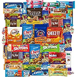 College Ultimate Care Package Snacks, Cookies, Candy, & Crackers Dorm Assortment (50 Count)