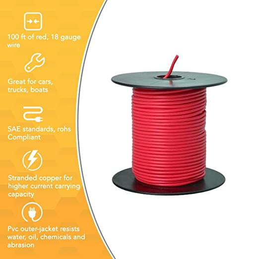 Southwire 55667423 primary wire 18 gauge bulk spool 100 feet red southwire 55667423 primary wire 18 gauge bulk spool 100 feet red electrical wires amazon greentooth Choice Image