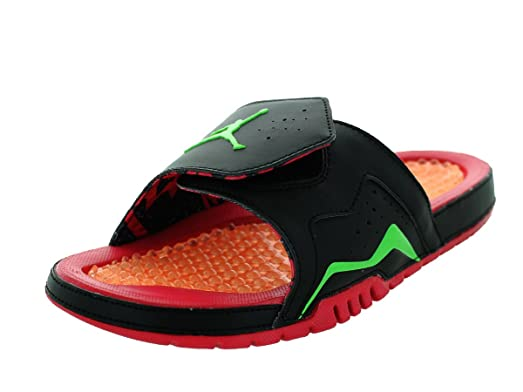Jordan Men Air Hydro VII Retro Slide Sandal (black/green/bright red)