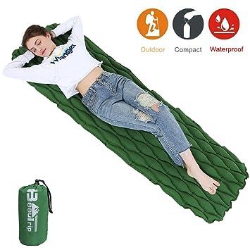 beautrip al aire libre Ultraligero 40d nailon Tpu hinchable dormir almohadilla alfombrillas para senderismo mochila Camping