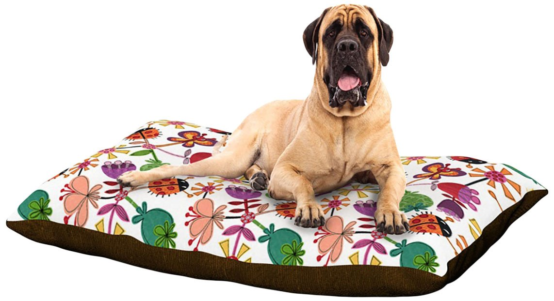 X-Large 40\ Kess InHouse Jane Smith Garden Pods  Green Teal Dog Bed