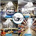 Garage Lighting, 60W LED Garage Lights 6000LM Deformable LED Garage Ceiling Lights, 6000K Daylight Super Bright LED Shop Lights for Garage, Basement, Workshop