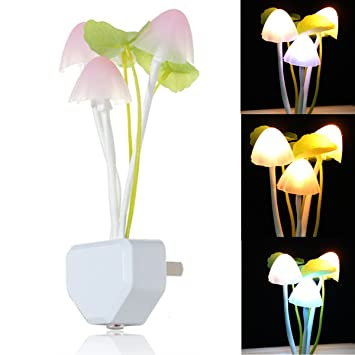 Honana Cute Mushroom Shape Design Led Light Nightlight Bed Lamp