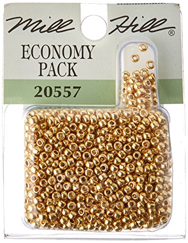 Mill Hill Glass Seed Beads Economy Pack, Gold Mill Hill Glass Beads