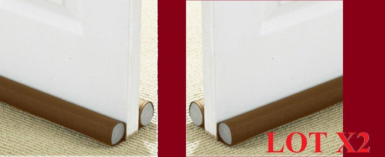 2 burletes dobles bajo puerta ajustables. Bloquea corrientes