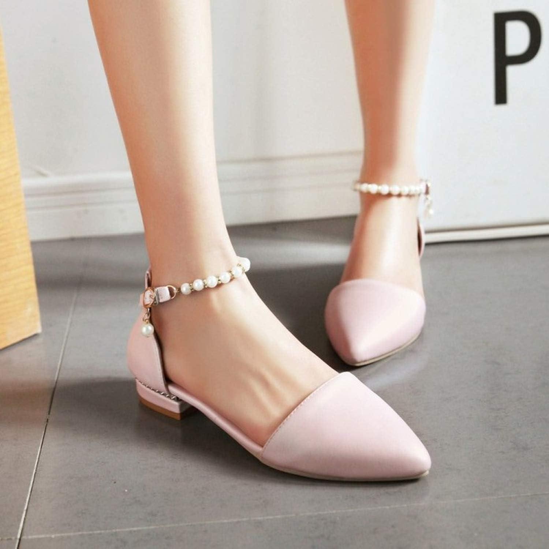 Womens Sandals pu New Sweet Buckle Beading Ms Flat Sandals Plus Size 33-50 Sandalias Mujer,3,13