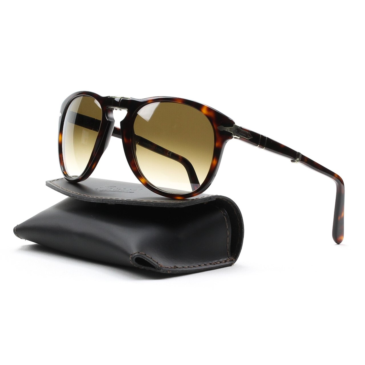 Persol Men's PO0714 Sunglasses Havana / Crystal Brown Gradient 52mm