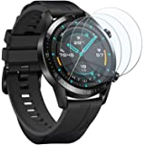 UCMDA Protector de Pantalla para Huawei Watch GT 2 46mm - [3-Pack] HD Full Cristal Vidrio Templado 2.5D Touch,HD-Display…