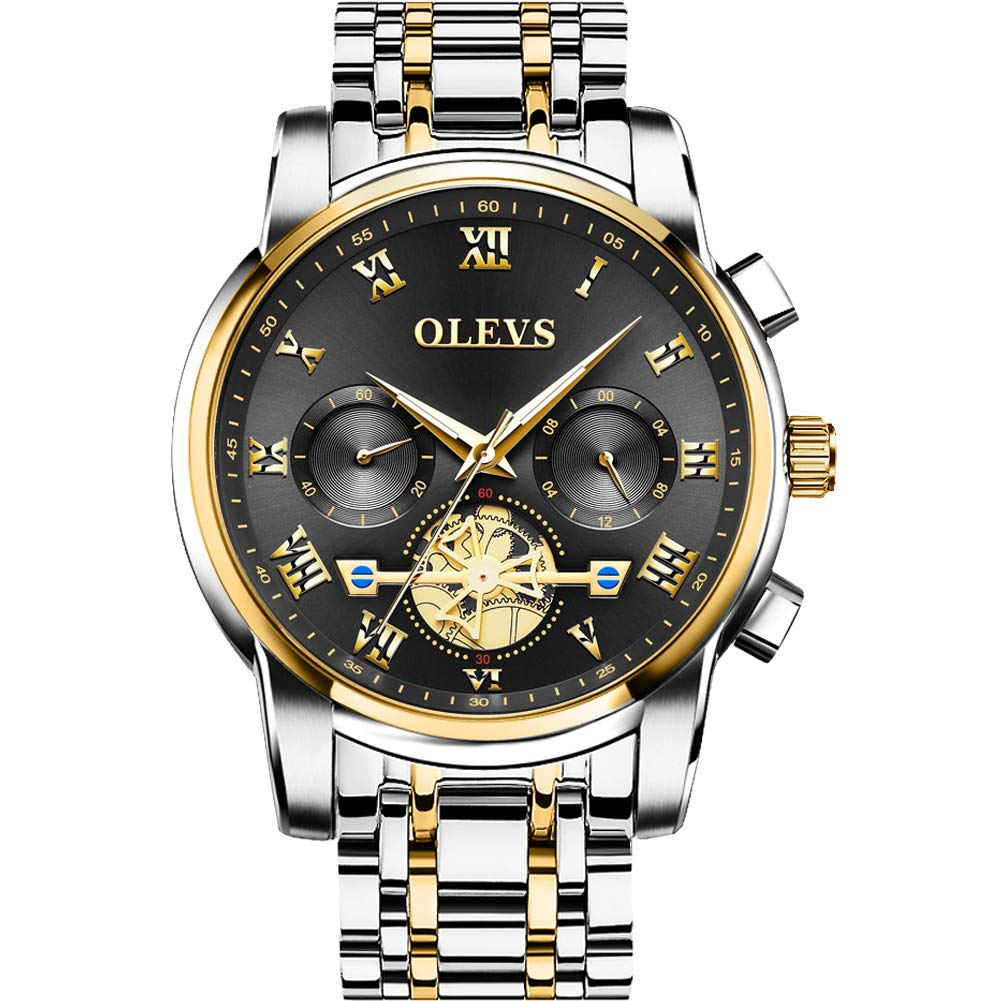 OLEVS Mens Wrist Watch - Business Fashion Luxury - Stainless