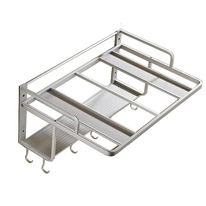 Ludage Espacio aluminio horno de microondas rejilla soporte de ...