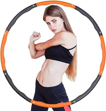 Hula-Hoop-Reifen f/ür Erwachsene Zerlegbar Hula-Hoop Training Sport Spiel 8 Abschnitten Hula Hoop
