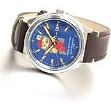 [セイコーウォッチ] 腕時計 アルバ スーパーマリオ コラボレーションモデル デカマリオ メカニカル 青文字盤 日常生活用強化防水(10気圧) ACCA401 ブラウン