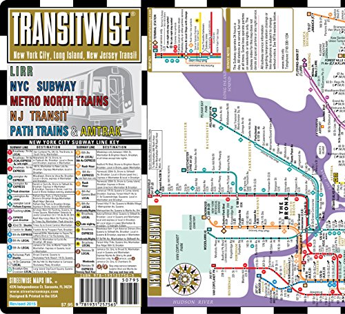 Nj Transit Subway Map.Streetwise Transitwise New York City Subway Map Manhattan Subway