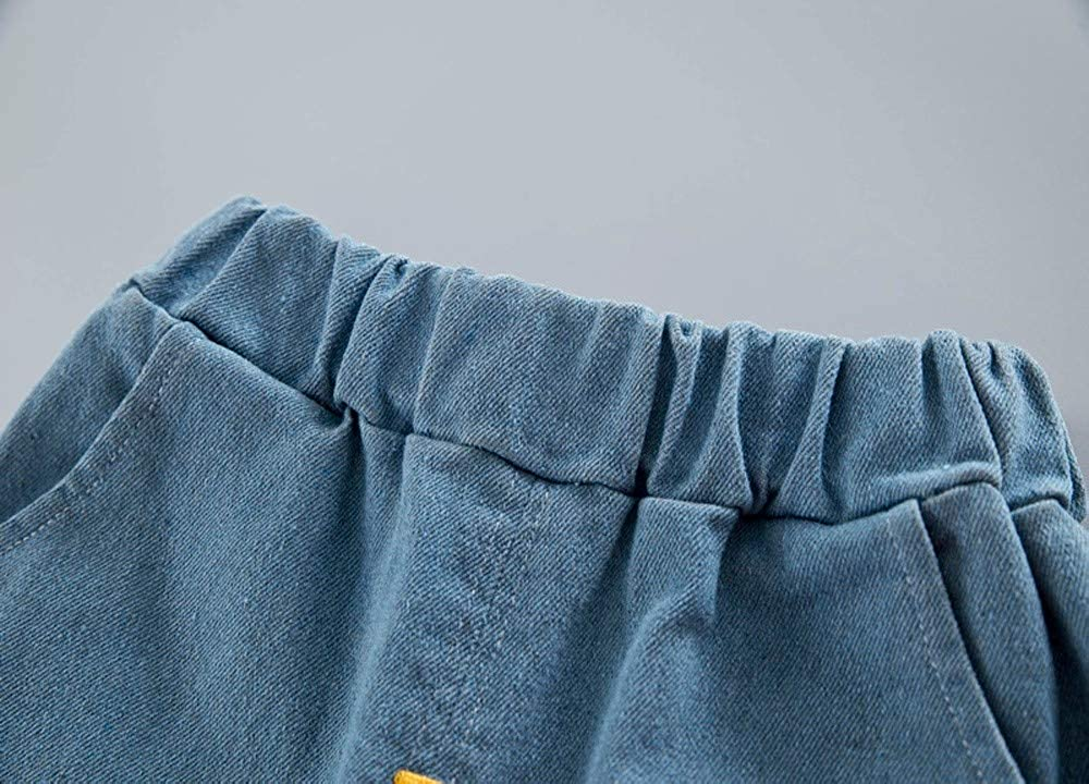 Oldeagle Kids Sweatshirt Set Toddler Kids Baby Boys Girls Stripe Smile Pullover Tops+Letter Print Pants 2PCs Kids Outfits