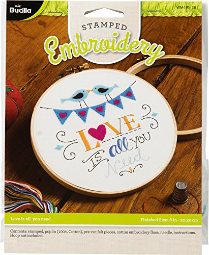 Bucilla WM47643E Love is All You Need Stamped Embroidery