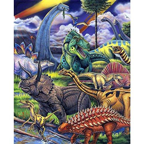 Dinosaur Fabric Panel - Wild Instincts Digital Print - 35