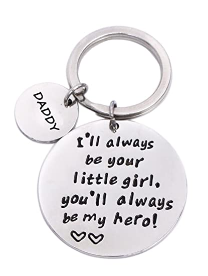 Keychain Gifts for Daddy Father - Daddy Gift Idea from Wife Daughter Son  Kids, Stainless - Keychain Gifts For Daddy Father - Daddy Gift Idea From Wife Daughter Son  Kids, Stainless Steel, With Gift Box, Christmas Birthday Fathers Valentines