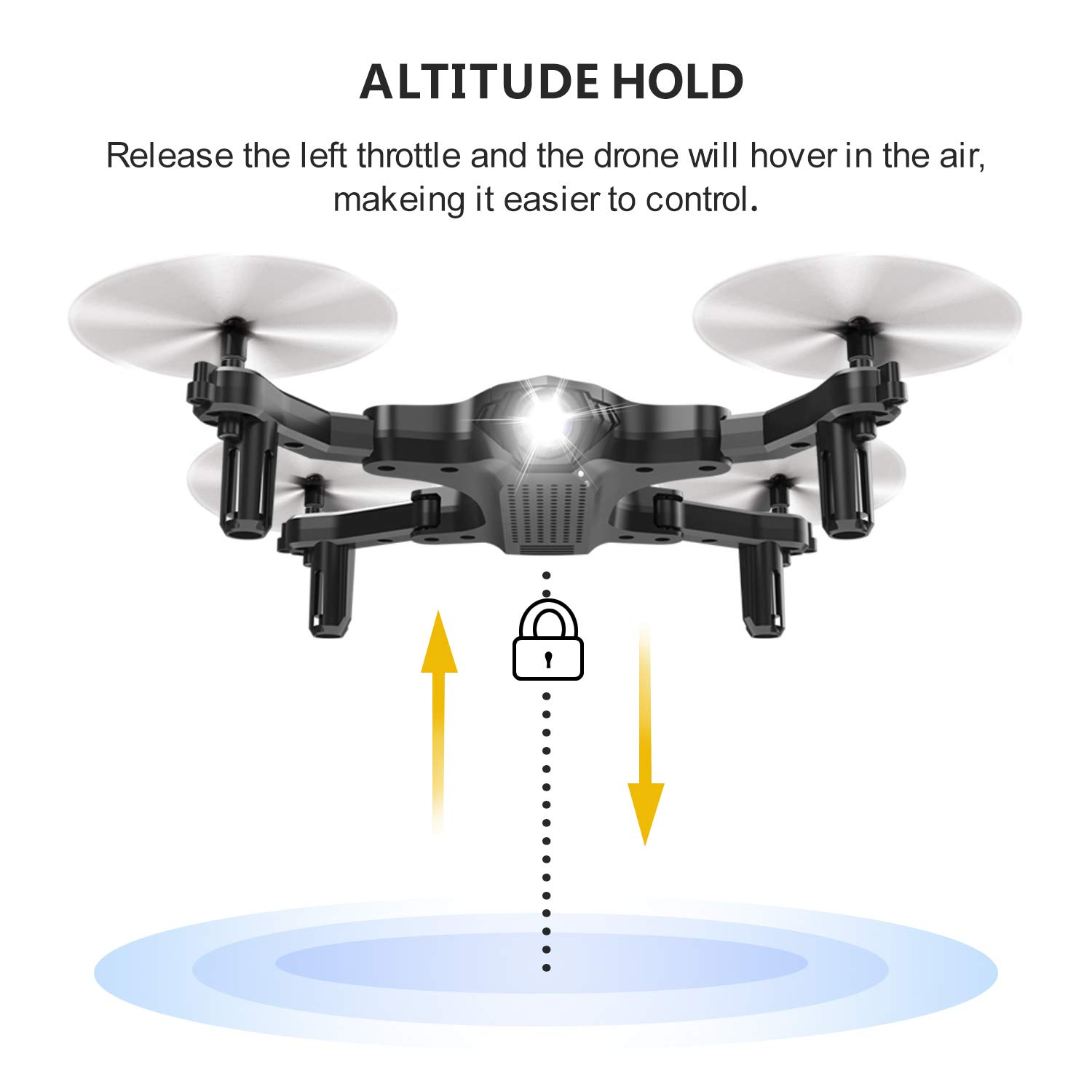 ScharkSpark Drone for Beginners, Portable RC Quadcopter with Foldable Arms Indoor/Outdoor Play, 6-Axis Gyro One-Key Return/Headless Mode/Altitude Hold/3D Flips, Warrior II by ScharkSpark (Image #6)