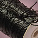 Black Rat Tail Cord, 2mm X 200Yd