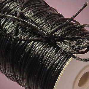 Black Rat Tail Cord, 2mm X 200Yd
