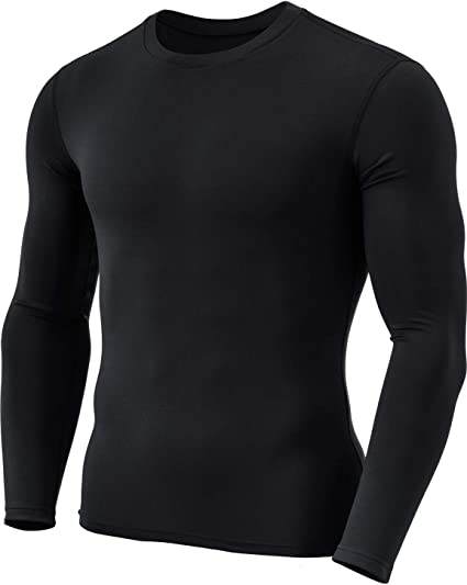 Activewear Tops Activewear Mens Long Sleeved Fleece Lined Long Sleeved Base Layer Top Size S