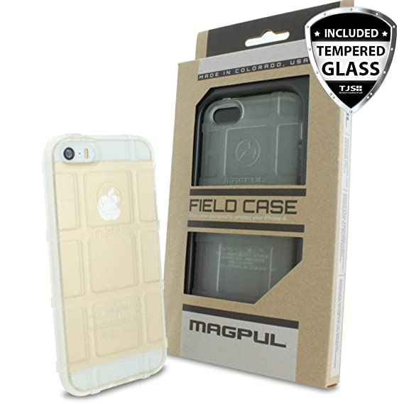 buy online d2928 08a08 Case for Apple iPhone SE/iPhone 5S / iPhone 5, with [TJS Tempered Glass  Screen Protector] Magpul [Field] MAG452 Polymer Case Cover Retail Packaging  ...