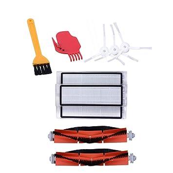 TOOGOO Kit de Accesorios para Xiaomi Mi Piezas de Repuesto de Robot de Vacío 3 Piezas