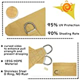 10'x10' Sun Shade Sail Square Sail Shade Canopy for