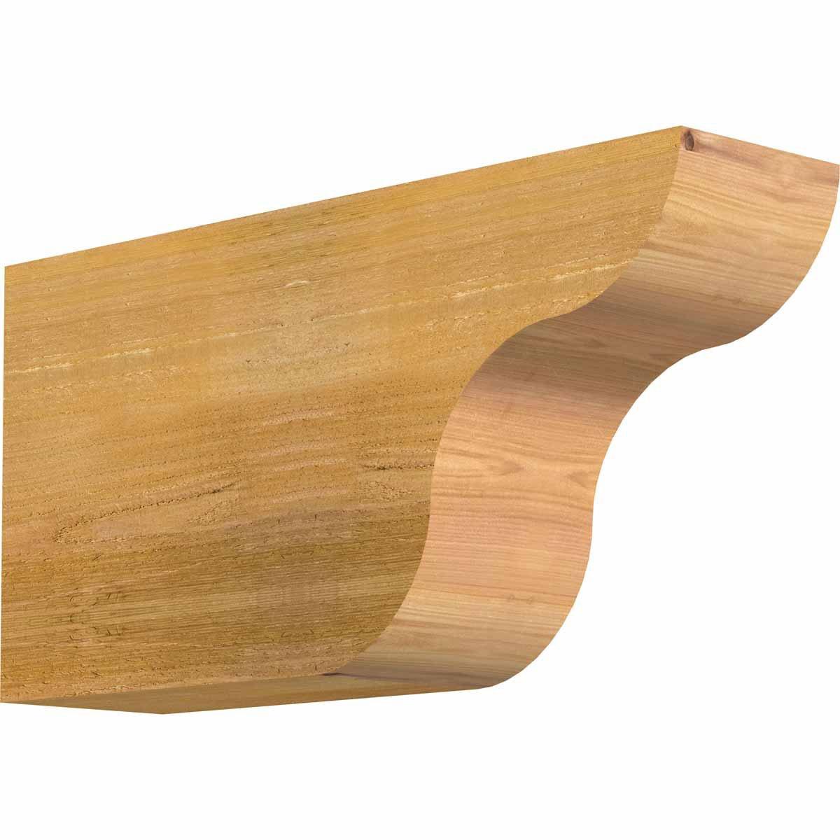 Ekena Millwork RFT06X12X24CAR00RWR Carmel Rough Sawn Rafter Tail, 6'' Width by 12'' Height by 24'' Length, Western Red Cedar