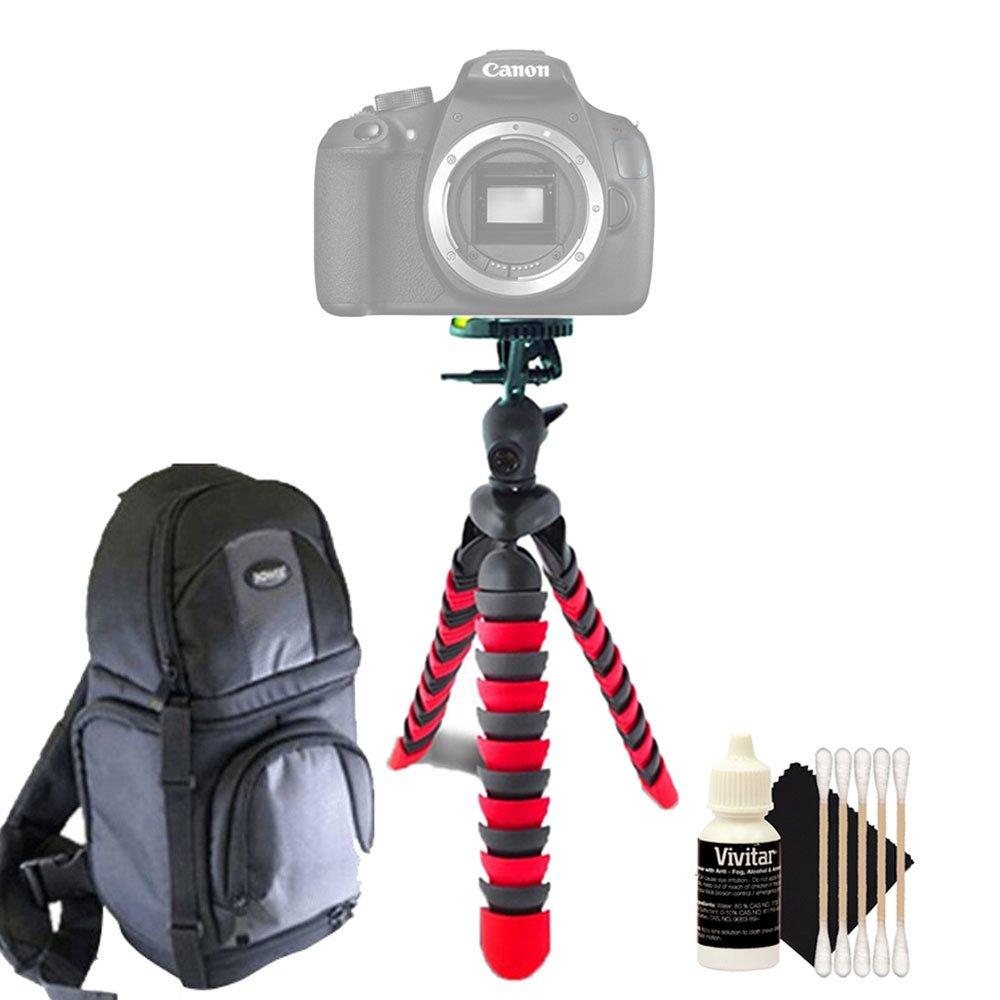 Flexible trípode cámara réflex digital + Mochila + Kit de limpieza ...